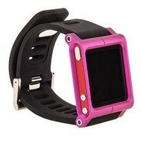 Чехол LunaTik для iPod nano 6 в виде браслета черный ремешок розовый корпус