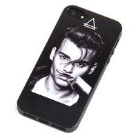 Силиконовый чехол накладка для iPhone 5s / SE / 5 Джонни Депп - Johnny Depp