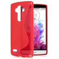 Красный силиконовый чехол для LG G4 c волной - S Line Silicone Case Red
