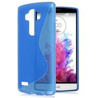 Синий силиконовый чехол c волной для LG G4 - S Line Silicone Case Blue