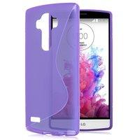 Фиолетовый силиконовый чехол для LG G4 c волной - S Line Silicone Case Purple