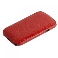 Кожаный чехол Melkco Jacka Type Crocodile для Samsung Galaxy S4 GT-I9500 - Red