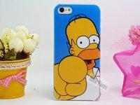 Пластиковый чехол накладка для iPhone 5s / SE / 5 Гомер Симпсон