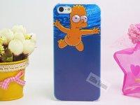 Пластиковый чехол накладка для iPhone 5s / SE / 5 Барт Симпсон купается