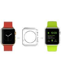 Прозрачный тонкий силиконовый чехол для Apple Watch 38мм