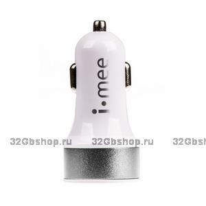 Автомобильная зарядка Melkco для iPhone 5 - 2.1А - белая