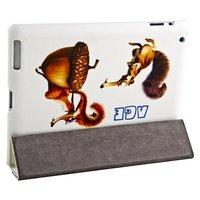 Чехол Jisoncase для iPad 4/ 3/ 2 ледниковый период белка и желудь