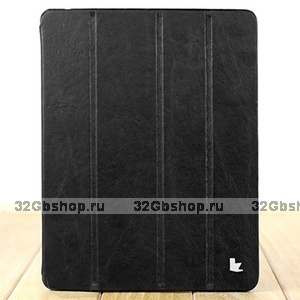 Чехол из натуральной кожи Jisoncase PREMIUM для iPad 4 / 3 / 2 черный