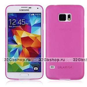 Розовый ультратонкий чехол для Samsung Galaxy S6 - 0.3mm Ultra Thin Matte Case Pink