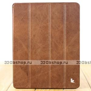 Чехол из натуральной кожи Jisoncase PREMIUM для iPad 4 / 3 / 2 коричневый