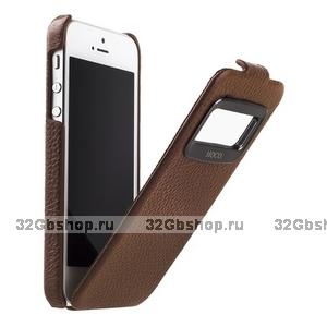 Чехол HOCO для iPhone 5s / SE /5 - HOCO Leather Case Marquess Brown коричневый