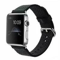 Черный кожаный ремешок COTEetCI для Apple Watch 42mm с классической пряжкой