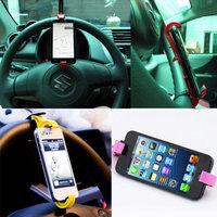 Держатель телефона на руль автомобиля черный