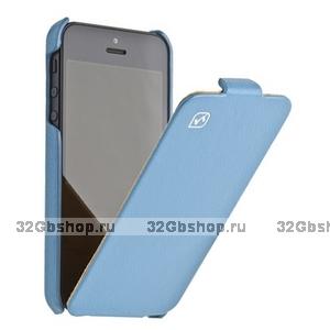 Кожаный чехол HOCO для iPhone 5 / 5s / SE - HOCO Duke Leather Case blue