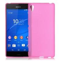 Розовый силиконовый чехол для Sony Xperia Z4