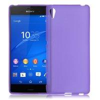 Фиолетовый силиконовый чехол для Sony Xperia Z4