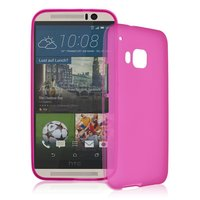 Розовый силиконовый чехол для HTC One M9