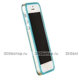 Бампер Griffin для iPhone 5 / 5s / SE голубой