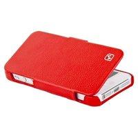 Кожаный чехол книга HOCO для iPhone 5c - HOCO Duke folder Leather Case Red