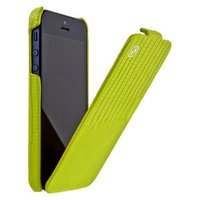 Кожаный чехол HOCO для iPhone 5c зеленая ящерица - HOCO Lizard pattern Leather Case Apple green