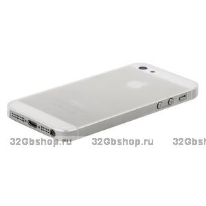 Накладка супер тонкая для iPhone 5 / 5s / SE - белая/матовая