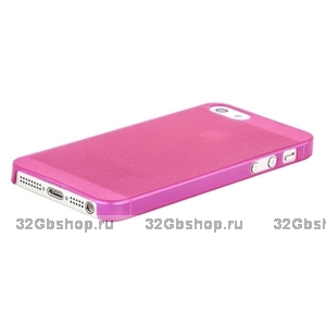 Накладка супертонкая для iPhone 5 / 5s / SE розовая