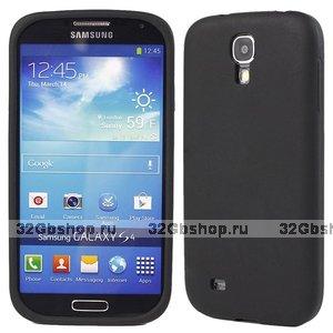 Силиконовый чехол для Samsung Galaxy S4 i9500 - Slim Silicone Case Black - черный