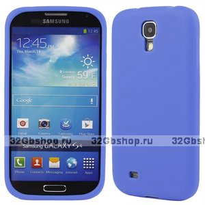 Силиконовый чехол для Samsung Galaxy S4 i9500 - Slim Silicone Case Purple - фиолетовый