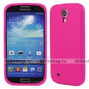 Силиконовый чехол для Samsung Galaxy S4 i9500 - Slim Silicone Case Pink - розовый