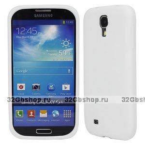 Силиконовый чехол для Samsung Galaxy S4 i9500 - Slim Silicone Case White - белый