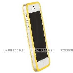 Бампер Griffin для iPhone 5 / 5s / SE желтый