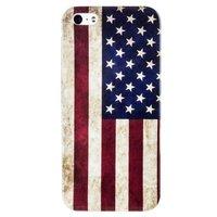 Пластиковая накладка для iPhone 5c флаг США ретро