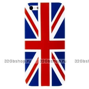 Накладка для iPhone 5 / 5s / SE флаг Великобритании