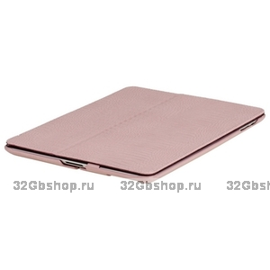 Кожаный чехол Borofone Crocodile pattern Pink для iPad 4 / 3 / 2 розовый