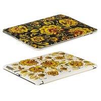 Чехол Jisoncase для iPad 4/ 3/ 2 белый черный хохлома