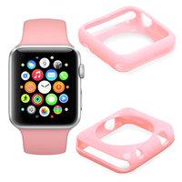 Розовый силиконовый чехол для Apple Watch 42мм