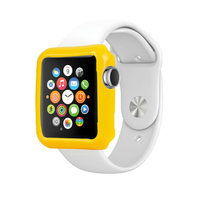 Желтый силиконовый чехол для Apple Watch 42мм
