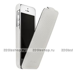 Чехол Melkco для iPhone 5 / 5s / SE Leather Case Jacka Type (белый карбон)