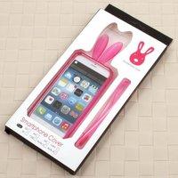 """Силиконовый бампер Rabbit Ears Case для iPhone 6 (4.7"""")  темно розовый"""