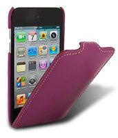 Кожаный чехол книжка Melkco для iPod Touch 4 Leather Case Jacka Type (Purple LC)