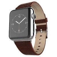 Кожаный ремешок Hoco для Apple Watch 42mm коричневый - Hoco Art Series Bamboo Real Leather Watchband Brown