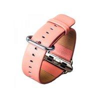 Розовый кожаный ремешок с классической пряжкой для Apple Watch 38mm - iBacks Premium Leather Watchband Pink
