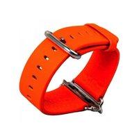 Кожаный ремешок для Apple Watch 38мм оранжевый - G-Case Genuine Leather Watchband Orange