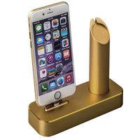 Алюминиевая док-станция для Apple Watch & iPhone золотая - COTEetCI Docking Station Gold