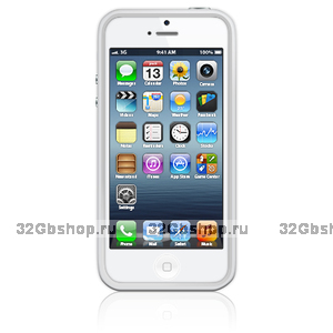 Бампер для Apple iPhone 5 / 5s / SE Bumper White - белый