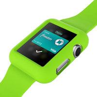 Зеленый силиконовый защитный чехол ремешок для Apple Watch 42мм