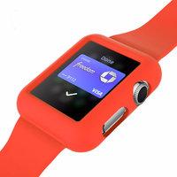 Красный защитный силиконовый чехол ремешок для Apple Watch 42мм