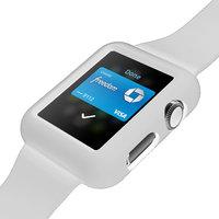 Белый силиконовый защитный чехол ремешок для Apple Watch 42мм