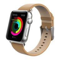 Коричневый кожаный ремешок Usams для Apple Watch 38mm - Usams Genuine leather Watch Band Brown
