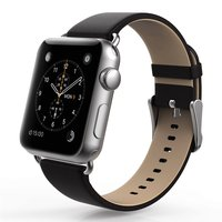 Черный кожаный ремешок Usams для Apple Watch 42mm - Usams Genuine leather Watch Band Black